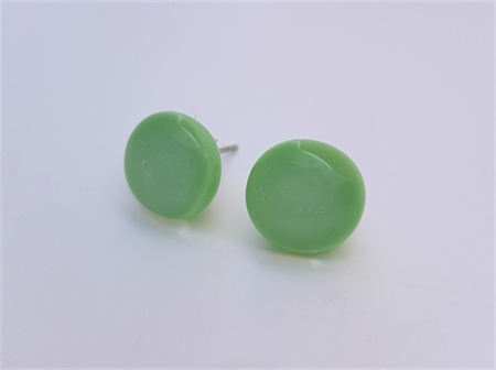 Burst of Colour Mint Green Fused Glass Earrings