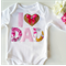 Beautiful Floral I Love Dad Fathers Day Gift Baby Outfit. All  Sizes Available