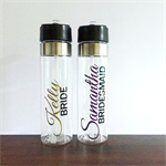 Name & Title; wedding drink bottle; water bottle; Personalised drink bottle