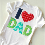Fathers Day New Dad  I 'Heart' Dad Onesie All sizes Available