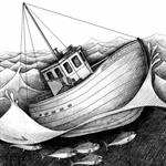 Boat fishing for tuna