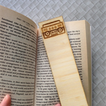 Wooden Laser Cut Bookmark - Stereo Design