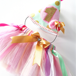 First birthday Tutu and Party Hat Birthday Party Outfit