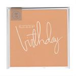 HAPPY BIRTHDAY (ORANGE) - MINI CARD