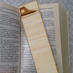 Wooden Laser Cut Bookmark - Sneaker Design