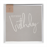 HAPPY BIRTHDAY (GREY) - MINI CARD