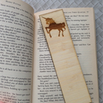 Wooden Laser Cut Bookmark - Unicorn Design