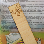 Wooden Laser Cut Bookmark - Butterfly Design