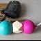Bright key ring, back to school bag charm, geometric wooden bead, FREE postage