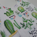 Succulent print bib and bandana bib set