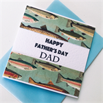 Fishing fish Happy Father's Day card Dad water river lake ocean
