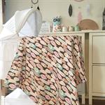 Pastel Glitter Feather Snuggle/Pram Blanket
