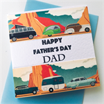 Bright celebrate Happy Father's Day Dad camper camping car caravan kombi card