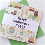 Happy Father's Day Dad camper camping campfire car fishing bush card