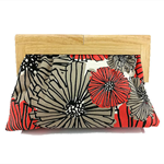 Orange Dahlia Clutch - Large