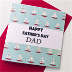 Sailing boats Happy Father's Day Dad red blue sail water celebrate card