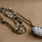 """Bohemian Long """"Coated in Ice"""" Gypsy Crystal Druzy Quartz Paved Necklace 30"""""""