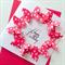 Happy birthday female lady mum friend sister pink spots butterfly celebrate card