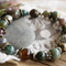 """Boho Chic """"In Bloom"""" Rustic Gypsy Floral Mixed Stone Stack Bracelet"""
