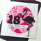 Happy Birthday custom pink black flamingo stylish on trend her card