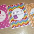 Set 3 Female Happy Birthday cards