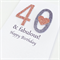 Happy birthday copper bronze silver glitter numbers ANY AGE heart fabulous card