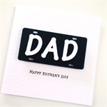 Happy Father's Day card Dad number plate personalised celebrate Fathers Day Card