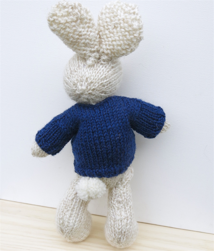 Knitting Pattern Pirate Jumper : Pirate Knitted Bunny Rabbit Toy with Navy Skull and Crossbones Jumper Saman...