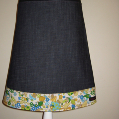 Denim Skirt with Mushrooms & Bamboo Stretch Waist