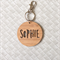 Personalised Wooden Bamboo Bag Tag / Key Ring - 'Sophie' Design