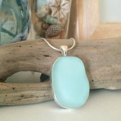 Pale Blue Sea Glass Pendant