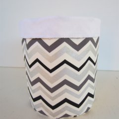 Reserved for Belinda - Fabric Storage Basket -  Chevron