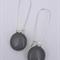 Grey Sterling SIlver Fused Glass Long Danglies Earrings