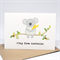 Australia Card - Koala holding wattle - AUS015 - G'Day from Australia.