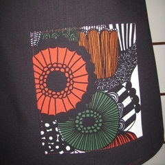 Black Skirt with Marimekko Flowers & Bamboo Stretch Waist