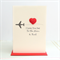 I love you Dad moon and back card Happy Birthday father's day for him fathers