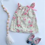 Size 00 - Rosey floral flutter dress, baby, girl, toddler