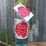 CHRISTMAS WINE/SPIRIT LABEL AND GIFT TAG - 'Merry Christmas to You from Me'
