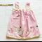 Boho Pink Gold Unicorn Magic Girls Dress and Headband