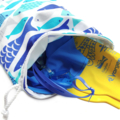 Small Waterproof Swim Bag for the Pool / Beach. Fish Wet Bag or Bikini Bag.