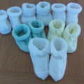 Baby Bootees in assorted colours to fit 0 to 3 months