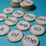 Custom sight word wooden memory match game - educational game - reading game