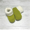 Stay On Booties - Hand Knitted - Size NB to 6 months - Australian Wool