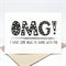 Announcement Card - Geometric OMG I have some news to share with you - CON008