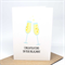 Engagement Card - 2 Glasses of Champagne - ENG024