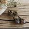 "Bohemian ""Grey Mantle of Fog"" Shabby Chic Victorian Rustic Dangle Stud Earrings"