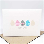 Easter Card - Easter Eggs with a Bow - EAS008