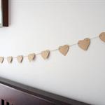 Rustic Kraft paper heart garland