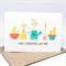 Mother's Day Card or Birthday Card for Mum - Succulent and Pot Plants - HMD014