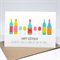 Birthday Card Female - Wine Bottles and Glasses - HBF157